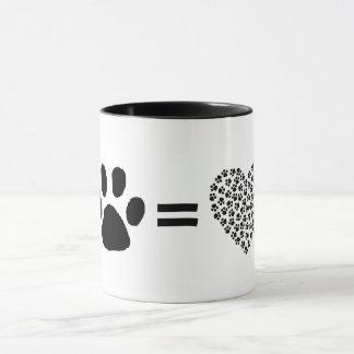 Paw equals Love Mug