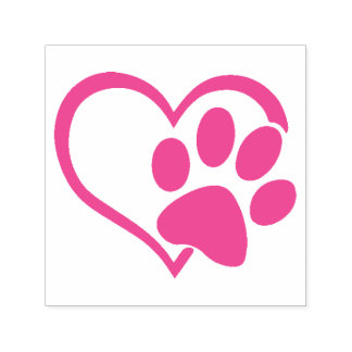 Paw & Heart Self-Inking Stamp