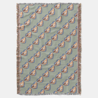 """""""Paw in Hand"""" Throw Blanket"""