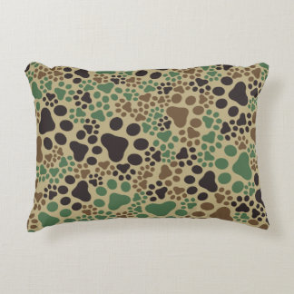 Paw pad camouflage accent pillow