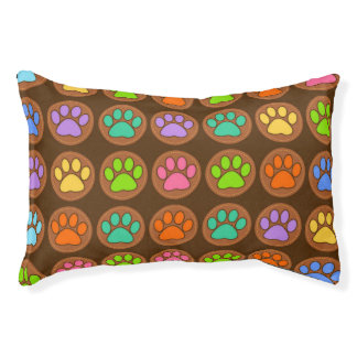 Paw Pattern Small Dog Bed