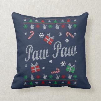 Paw Paw Christmas Throw Pillow