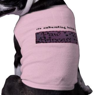 Paw Princess doggie shirt