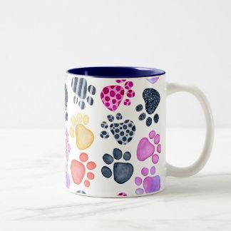 Paw Print 2 color mug