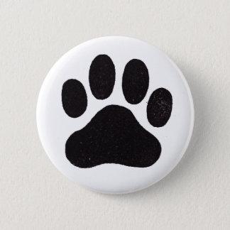 Paw Print 2 Inch Round Button