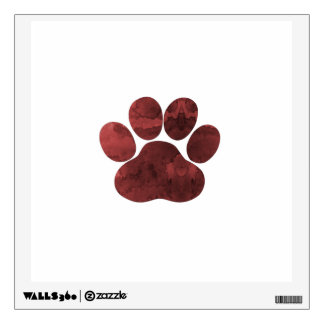 Paw Print Art Wall Sticker