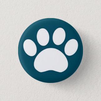 Paw Print: Blue Button