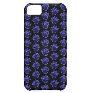 Paw Print (Blue) iPhone 5C Phone Case