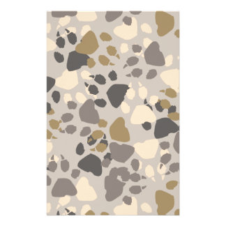 Paw Print Camo for Scrapbooking Stationery