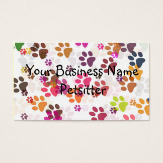 Paw Print Collage, Your Business N... Business Card