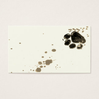 paw print custom business card template