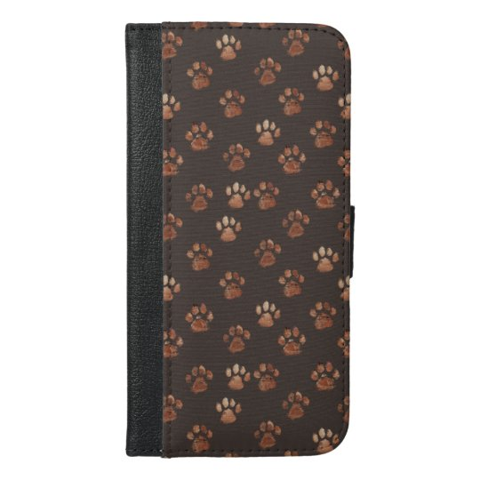 Paw print design iPhone wallet case.