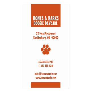 Paw Print Dog Care Business Card