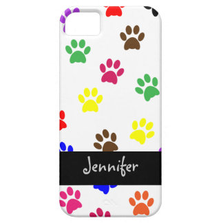 Paw print dog custom girls name iphone 5 barely iPhone 5 case