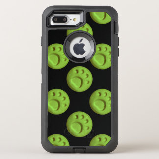 Paw Print Dot - Green OtterBox Defender iPhone 7 Plus Case