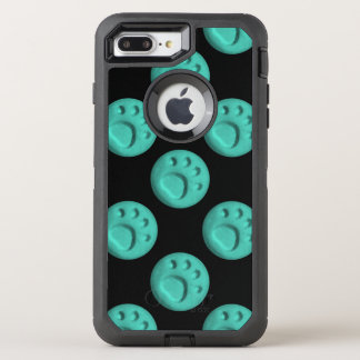Paw Print Dot - Teal OtterBox Defender iPhone 7 Plus Case