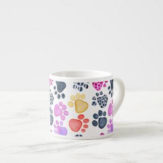 Paw Print Espresso Mug