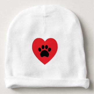 Paw Print Heart Baby Beanie