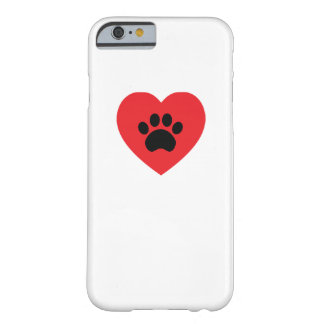 Paw Print Heart iPhone 6 Case