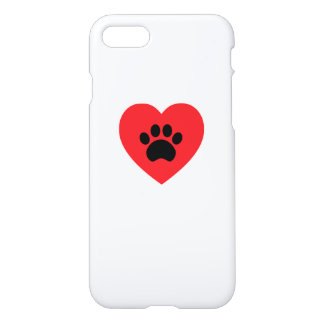 Paw Print Heart iPhone 8/7 Case