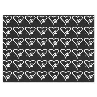 Paw Print Heart Tissue Tissue Paper