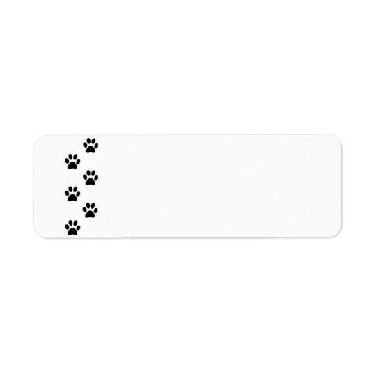 Paw Print Label
