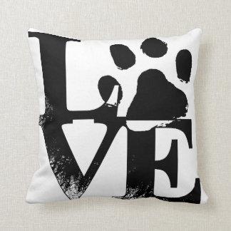 Paw Print Love Throw Pillow