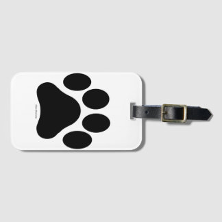 Paw Print Luggage Tag with Card Holder