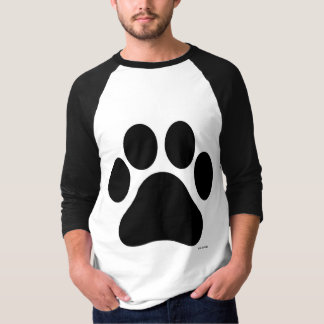 Paw Print Men's Medium Sleeve Shirt