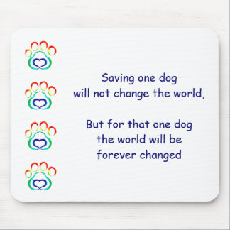 Paw Print Mousepad, Save One Dog Mouse Pad