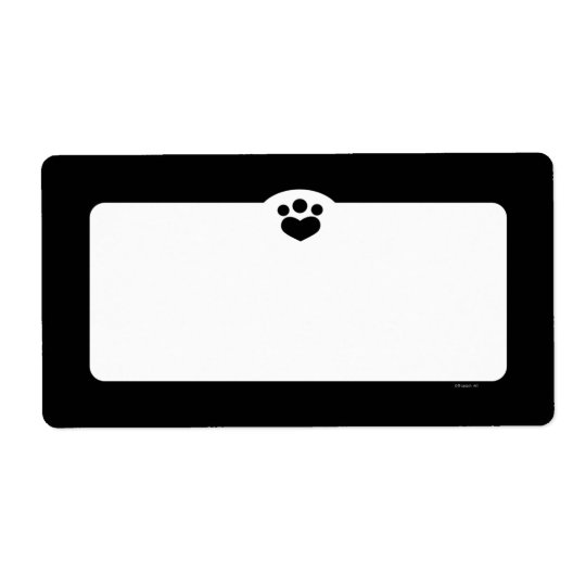 Paw Print Off-Leash Art™ Pet Simple Black Shipping Label