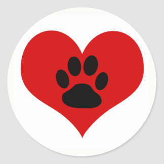 Paw Print On My Heart - Dog Lover Sticker