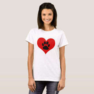 Paw Print On My Heart - Dog Lover Women's T-Shirt
