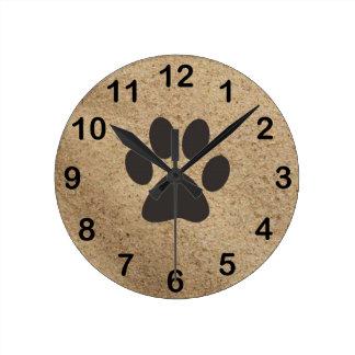 Paw Print on Sand Art Clock