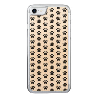 Paw Print Pattern Carved iPhone 8/7 Case