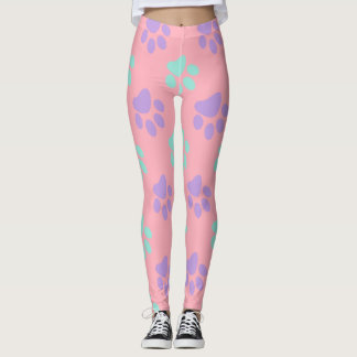 Paw Print Pattern Leggings