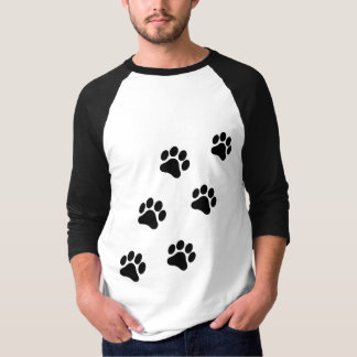 Paw Print Pattern Men's Medium Sleeve Shirt