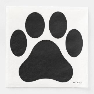 Paw Print Pattern Napkins Paper Napkins