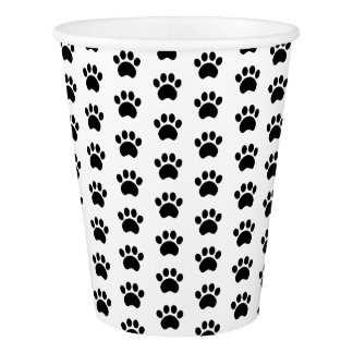Paw Print Pattern Paper Cups Paper Cup
