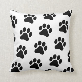 Paw Print Pattern Pillow Home Decor