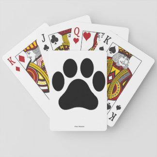 Paw Print Pattern Playing Cards