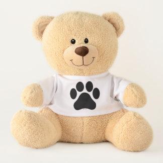 Paw Print Pattern T-Shirt Teddy Bear