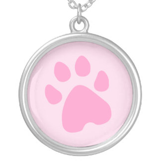 Paw Print - Pink / Any Color necklace