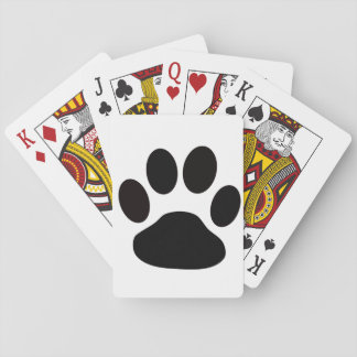 paw print playing cards