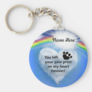 Paw Print Poem Basic Round Button Keychain