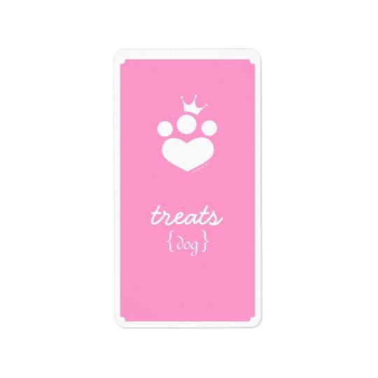 Paw Print Princess Off-Leash Art™ Pet Treats Label