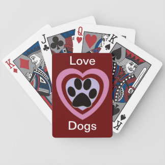 Paw print products bicycle playing cards