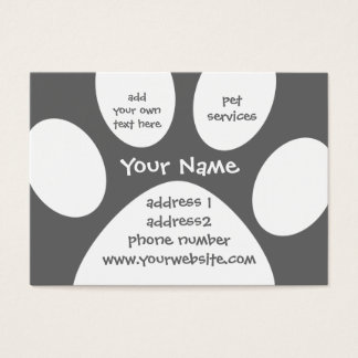 paw print profile card