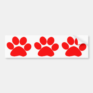 Paw Print (Red) Bumper Sticker
