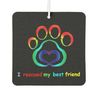 Paw Print Rescue Dog Car Air Freshener